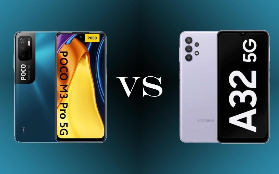 Comparativo entre Xiaomi POCO M3 Pro 5G e Samsung Galaxy A32 5G