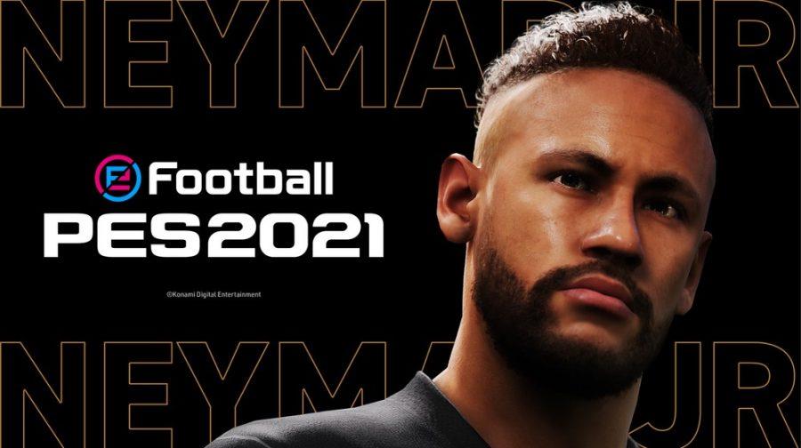 Neymar Jr. é um dos embaixadores do eFootball, que substitui o PES, ao lado de Messi — Foto: Divulgação/Konami