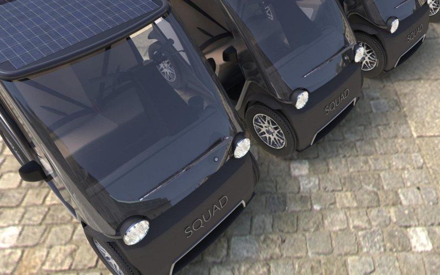 Squad é um carro elétrico movido à energia solar que não precisa de CNH