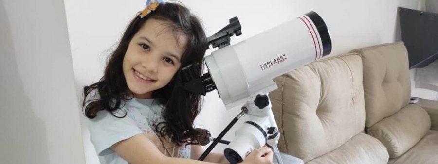 Nicole Oliveira, de apenas 8 anos